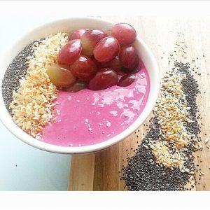 romige roze smoothie
