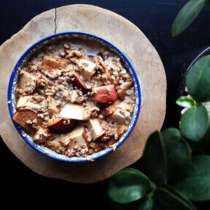 overnight oats appel kaneel