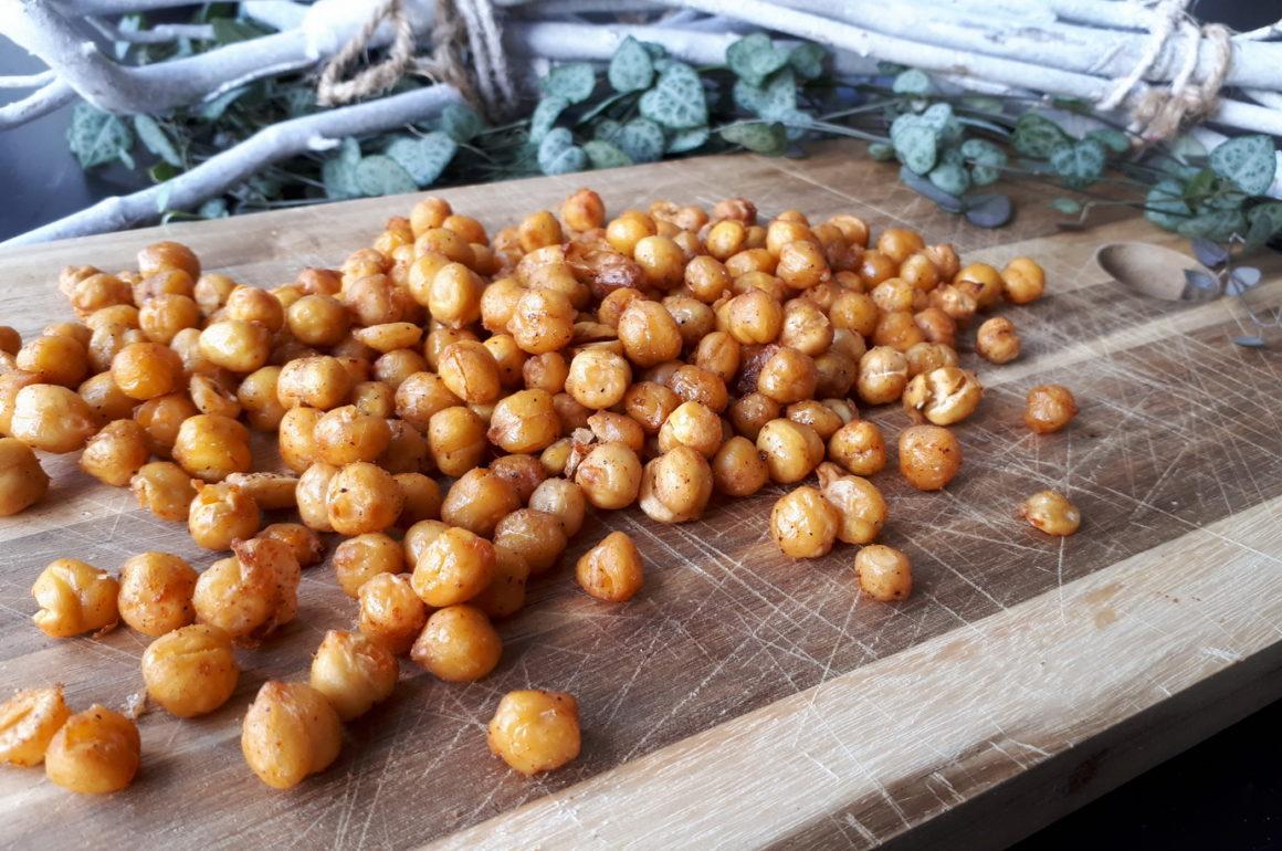 Geroosterde kikkererwten | spicy healthy snack