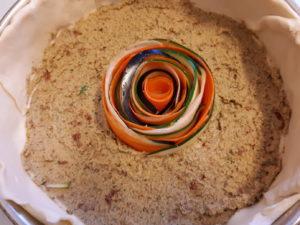 opbouw groente spiraal quiche